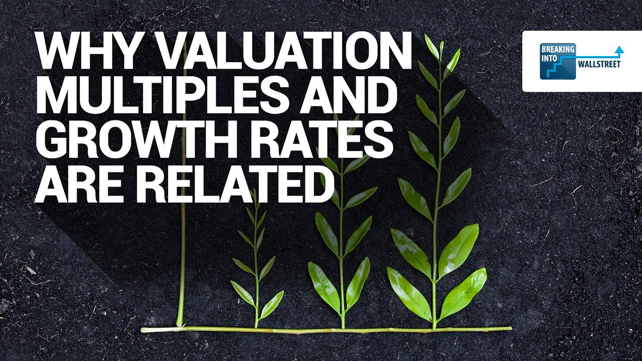 why valuation multiples and growth rates are related youtube