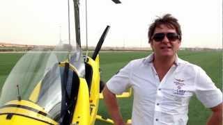 Полет русских пилотов на гиропланах над Дубаем