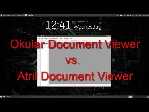 Okular Document Viewer Vs  Atril Document Viewer