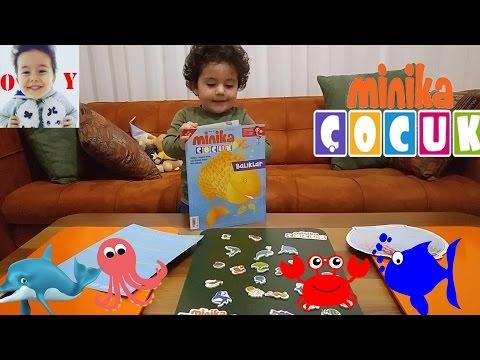 minika çocuk dergisi okuduk rengarenk baliklar ve deniz canlilari eğlenceli çocuk videosu.