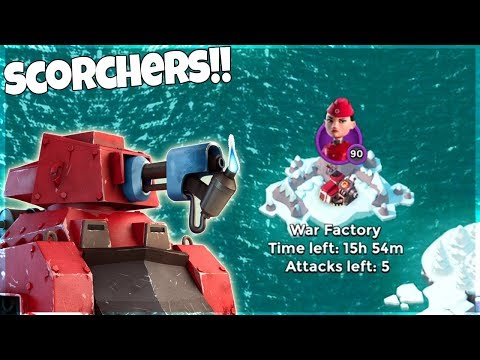 Can all Scorchers TAKE OUT War Factory in Boom Beach