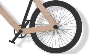 Sandwichbike дерев'яний велосипед