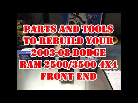 dodge truck parts diagram bones of foot pain 2003 2007 ram 3 4 1 ton 4wd front end rebuild part youtube