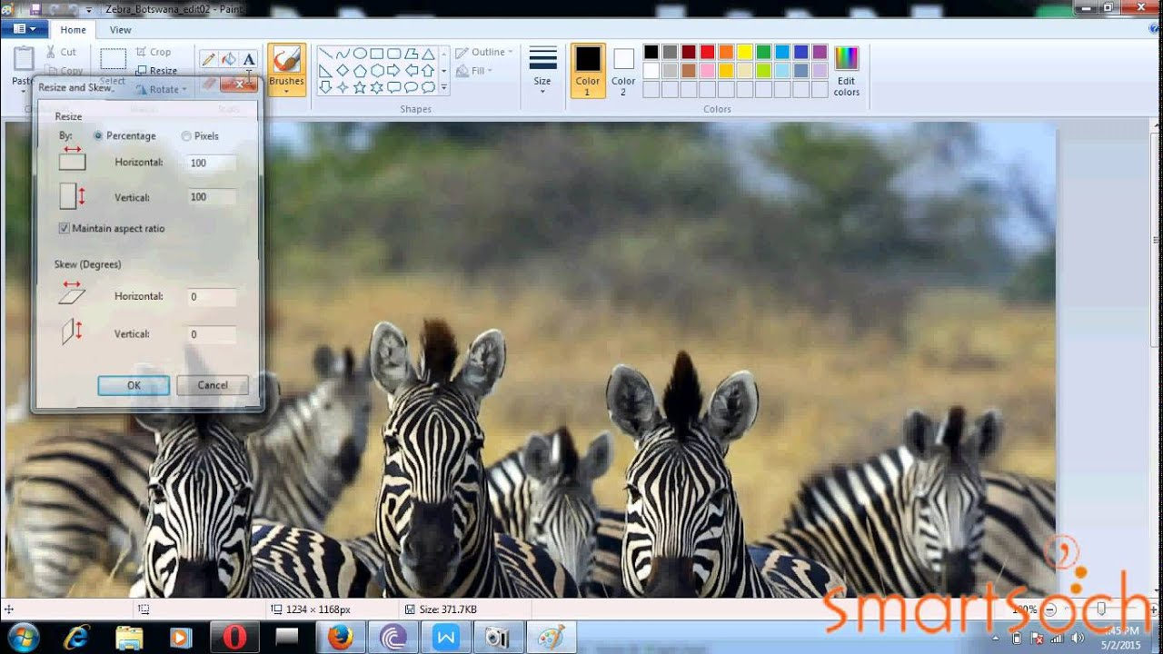 How to reduce jpeg or jpg or png image file size in paint in ...