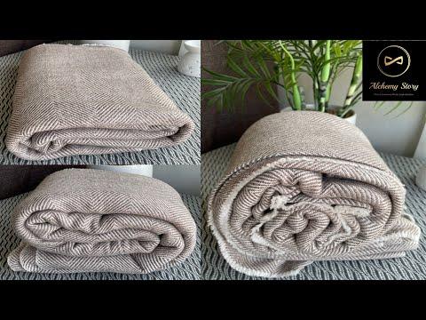 Taupe Herringbone Cashmere Blanket Throw   Baby Blanket   Meditation Shawl   Alchemy Story #shorts