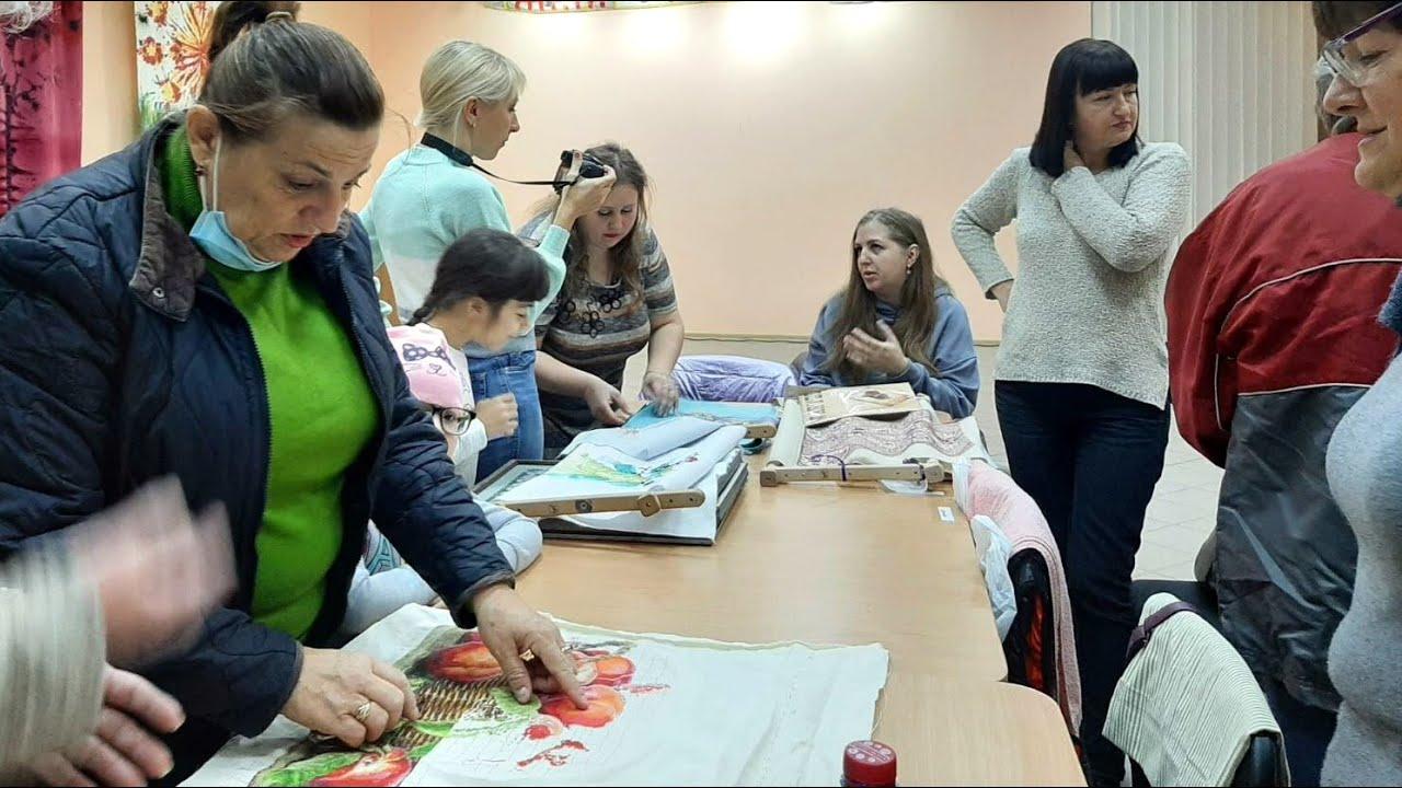 Встреча вышивальщиц Бердянска. Октябрь 2021