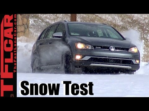 2017 VW Golf Alltrack AWD Snowy Colorado Review: First Snow & First Tracks