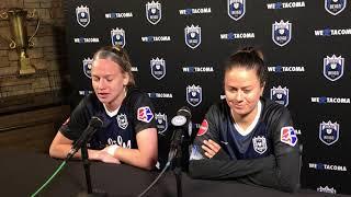 Lauren Barnes and Bethany Balcer Orlando post game