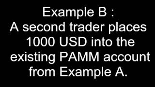 What is a PAMM Forex account?
