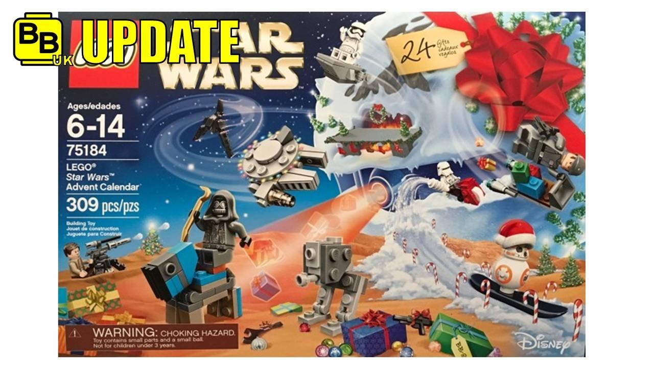 LEGO STAR WARS 2017 ADVENT CALENDAR 75184 SET IMAGE REVEALED