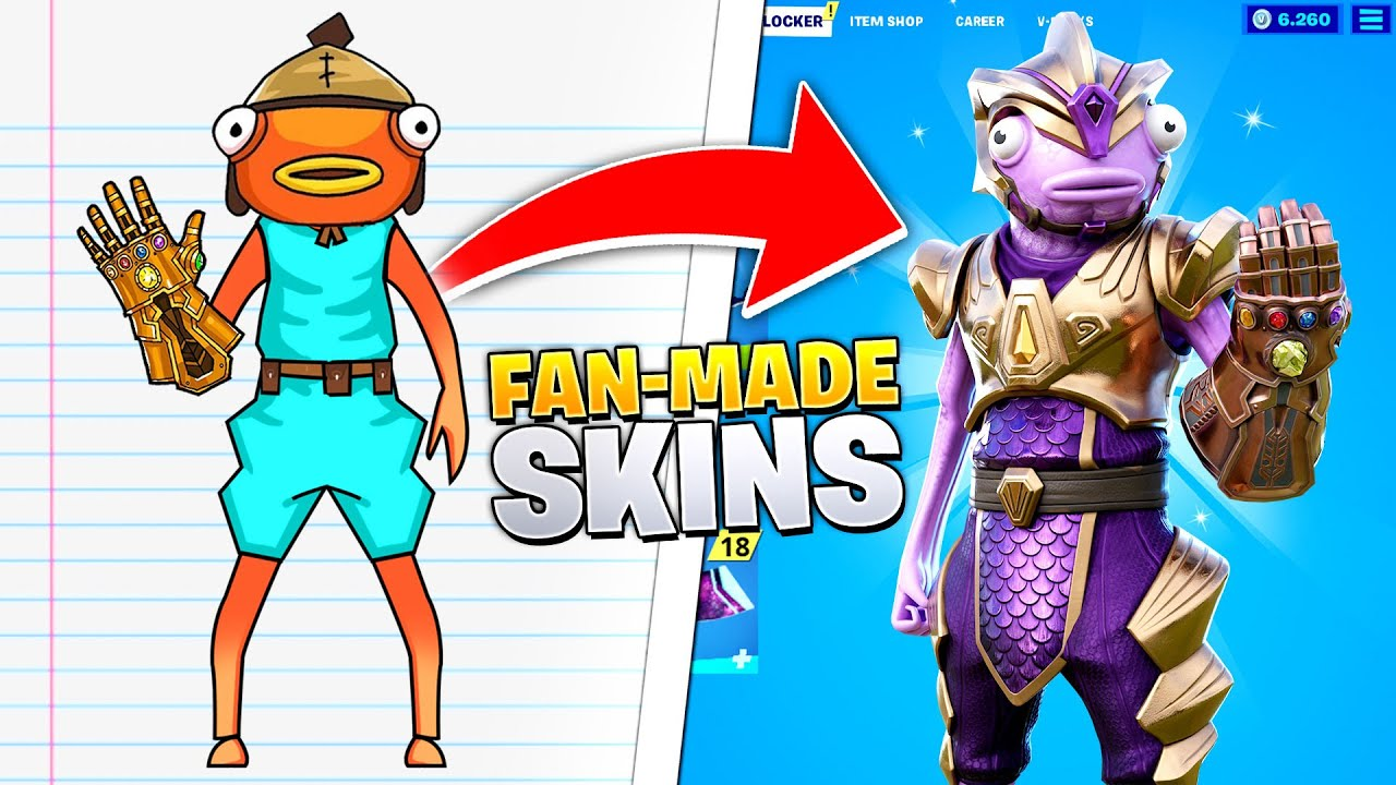 I turned *FAN-CONCEPTS* into REAL Fortnite Skins!