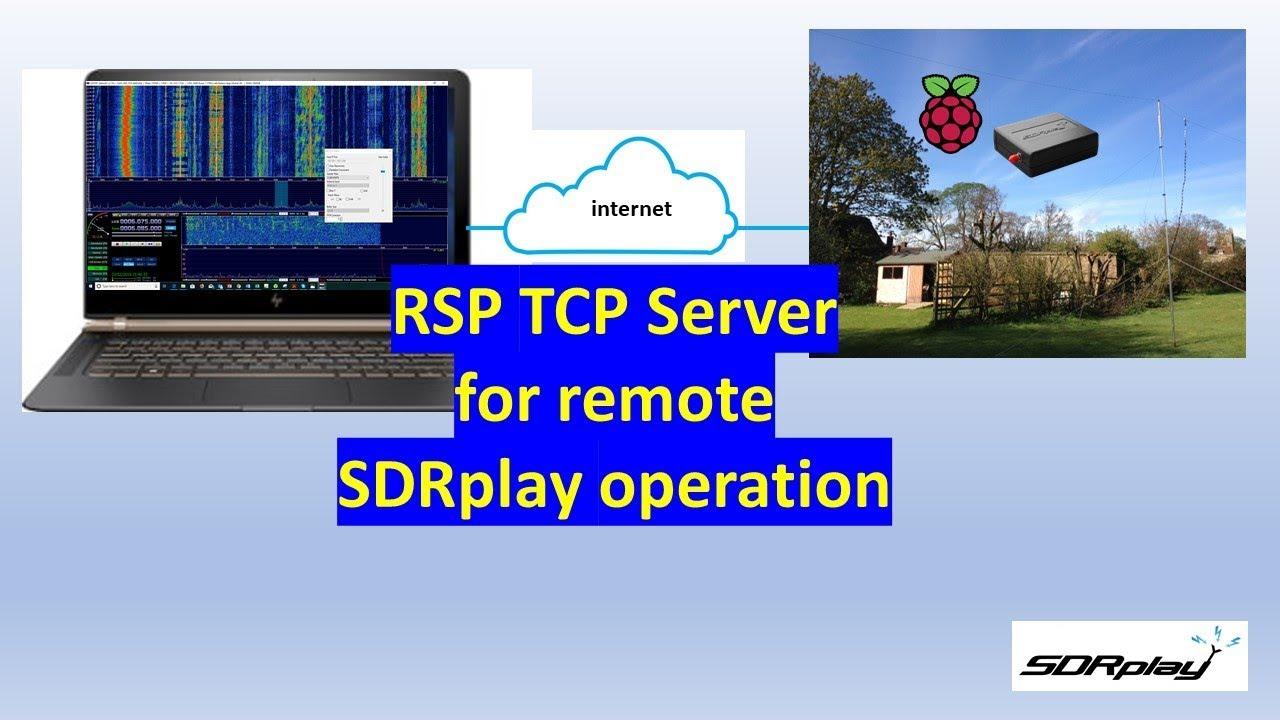 SDRplay RSP TCP server remote Raspberry Pi demonstration