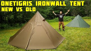 Onetigris iron wall tent vs iron wall tent (old version and new version)
