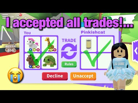 I Accepted Every Trade In Adopt Me For 24 Hours..|Roblox