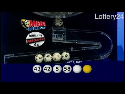 2017 05 02 Mega Millions Numbers and draw results