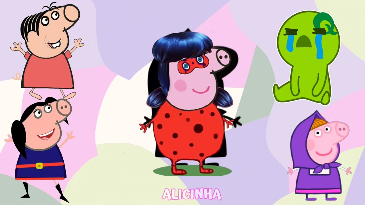 Encontre as Personagens da PEPPA PIG| Masha eo Urso -Turma da Mônica- LAdybug - Luna| Пеппа بيبا بيج