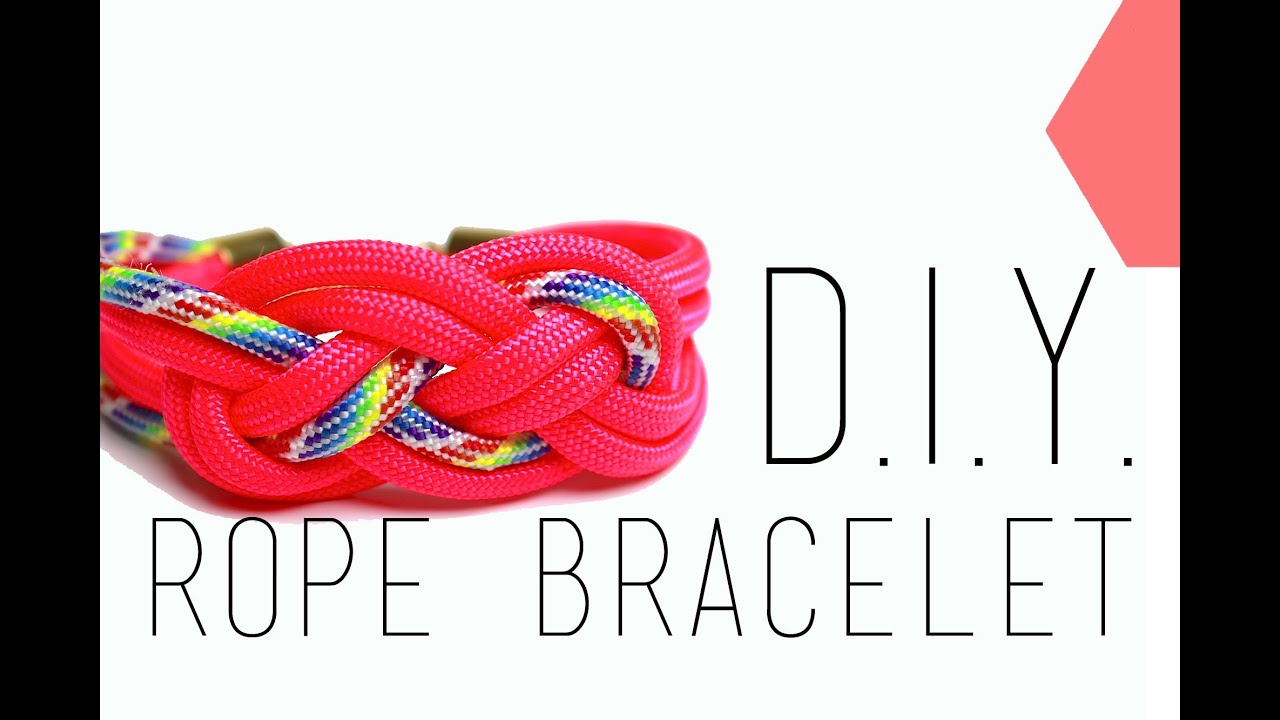 tutoriel d i y neon rope bracelet bracelet noeud marin corde fluo english subs youtube. Black Bedroom Furniture Sets. Home Design Ideas