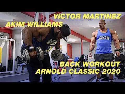 Victor Martinez And Akim Williams Back Workout For The Arnold Classic 2020