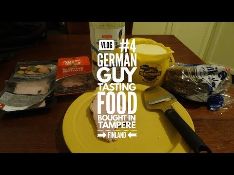 Vlog #4 - a german guy tasting food bought in tampere, finla