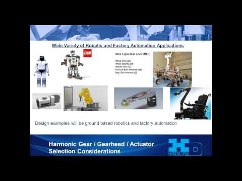 Harmonic Drive® - Designing an Optimal Rotary Motion Joint for Robotics and Factory Automation
