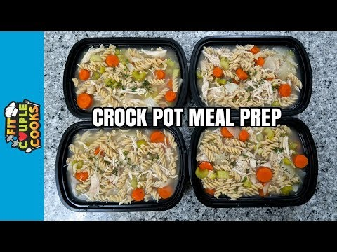 How to Meal Prep - Ep. 64 - CHICKEN NOODLE SOUP - Crock Pot Recipe ($2.50/Meal)
