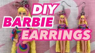 DIY BARBIE EARRINGS ♡ WORLD'S SMALLEST BARBIE 5 MINS DIY HACKS