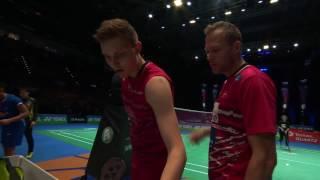 yonex all england open 2017   badminton qf m5 ms   lin dan vs viktor axelsen