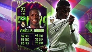 FUTURE STAR VINICIUS JUNIOR 92! WORTH OVER 1,800,000 COINS? FIFA 19 ULTIMATE TEAM