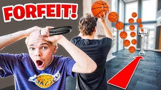 INSANE Long SHOT Mini Hoop Battle - SPIN THE FORFEIT WHEEL