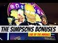 THE SIMPSONS SLOT MACHINE BONUSES @ Mirage Las Vegas  NorCal Slot Guy