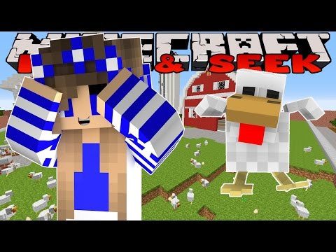 Minecraft Custom Modded Mini Games-Little Carly-CHICKEN HIDE AND SEEK w/Little Kelly.