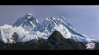 Mt. Everest painting tutorial  | Art Candy