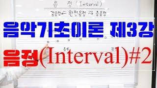 음악기초이론 제3강 음정(INTERVAL) #2
