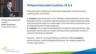 Pohjavesilainsäädännön muutos, Juhani Gustafsson, ympäristöministeriö
