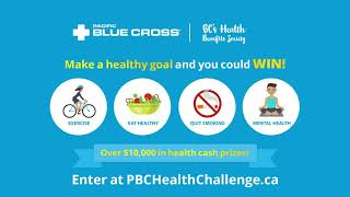 Make a healthy goal and you could win. as bc's health benefits society, pacific blue cross improves wellbeing for all british columbians. that's w...