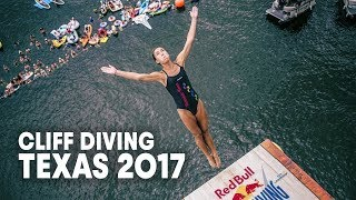 Now these are some clean dives. | Red Bull Cliff Diving Texas, United States 2017