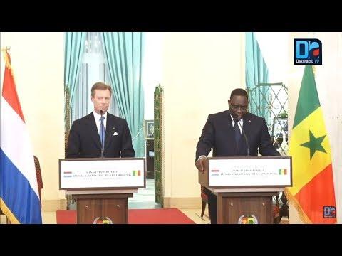 [LIVE ] Suivez la conférence de presse de Macky Sall et du grand-Duc Henri de Luxembourg