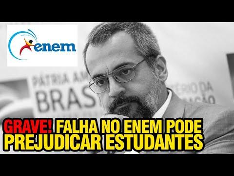 GRAVÍSSIMO!!  ENEM FALHA E PODE PREJUDICAR MILHARES DE ESTUDANTES