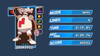 [TAS] Puyo Puyo Tetris (PC) Sprint (32-bit seeds allowed) - 19.81 sec (10 Tetris Perfect Clears)