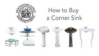 Corner Sinks | Bathroom Corner Sink How To Buy