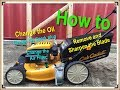 Cub Cadet Mower Maintenance; Change oil, spark plug, air-filter and sharpen blade