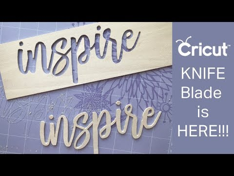 Cricut Knife Blade - Cutting Bass wood and more!