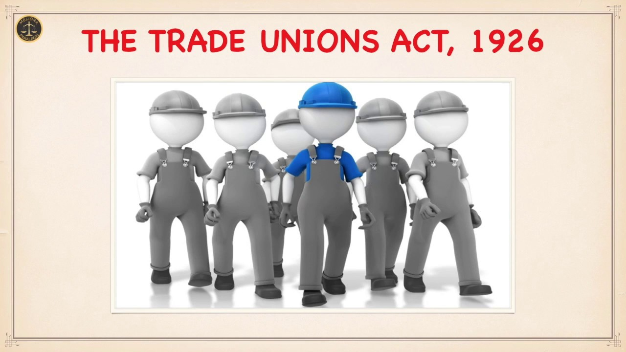 Trade Union Act 1926 Multiple Choice Questions
