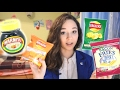 Ukrainian girl tries British snacks for the first time! REACTION TO MARMITE :D