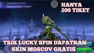 cara mendapatkan skin moscov gratis di lucky spin trik lucky spin