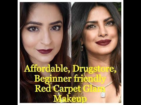 Affordable, drugstore, beginner friendly makeup |Priyanka Chopra Golden globe inspired makeup