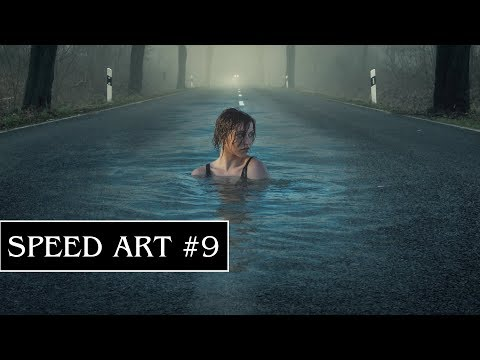 Speed Art  - Swimming in a Road (GIMP)