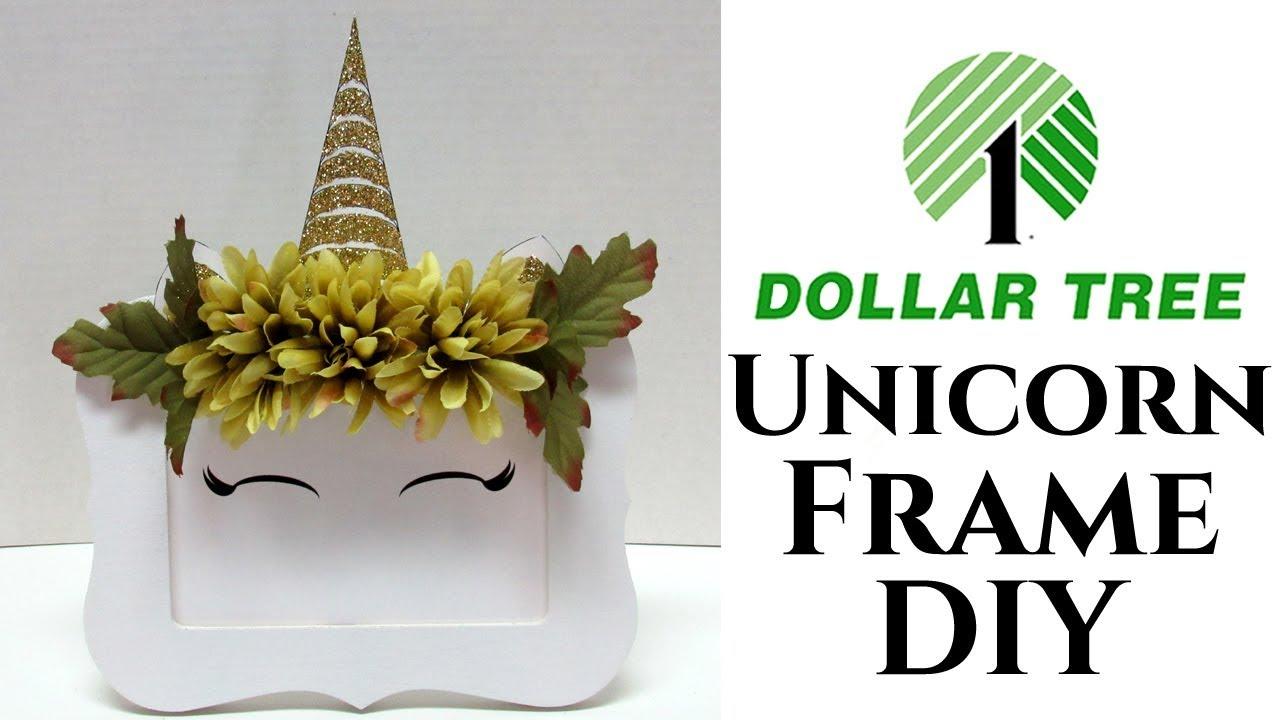 Dollar Tree DIY Unicorn Frame - YouTube