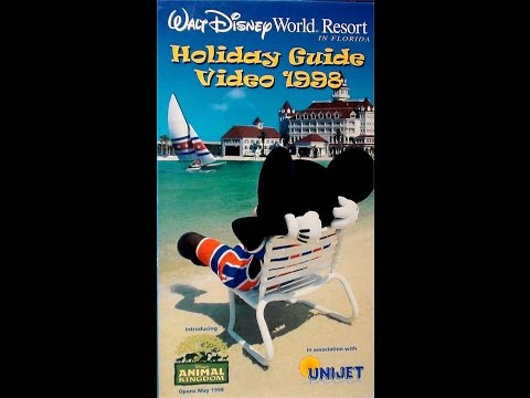 Walt Disney World Resort Vacation Holiday Guide Video 1998 (UK VHS - by UniJet)