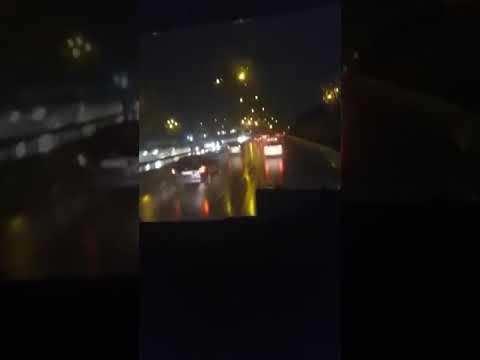 Yağmurlu havada İstanbul yolları